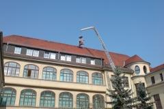 Dachreparatur am Helios Klinikum in Plauen