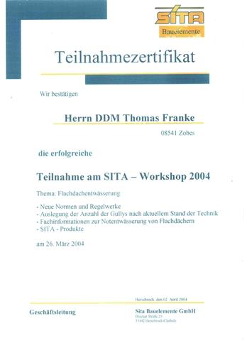 Sita Dacheinläufe -Lehrgang Thomas Franke